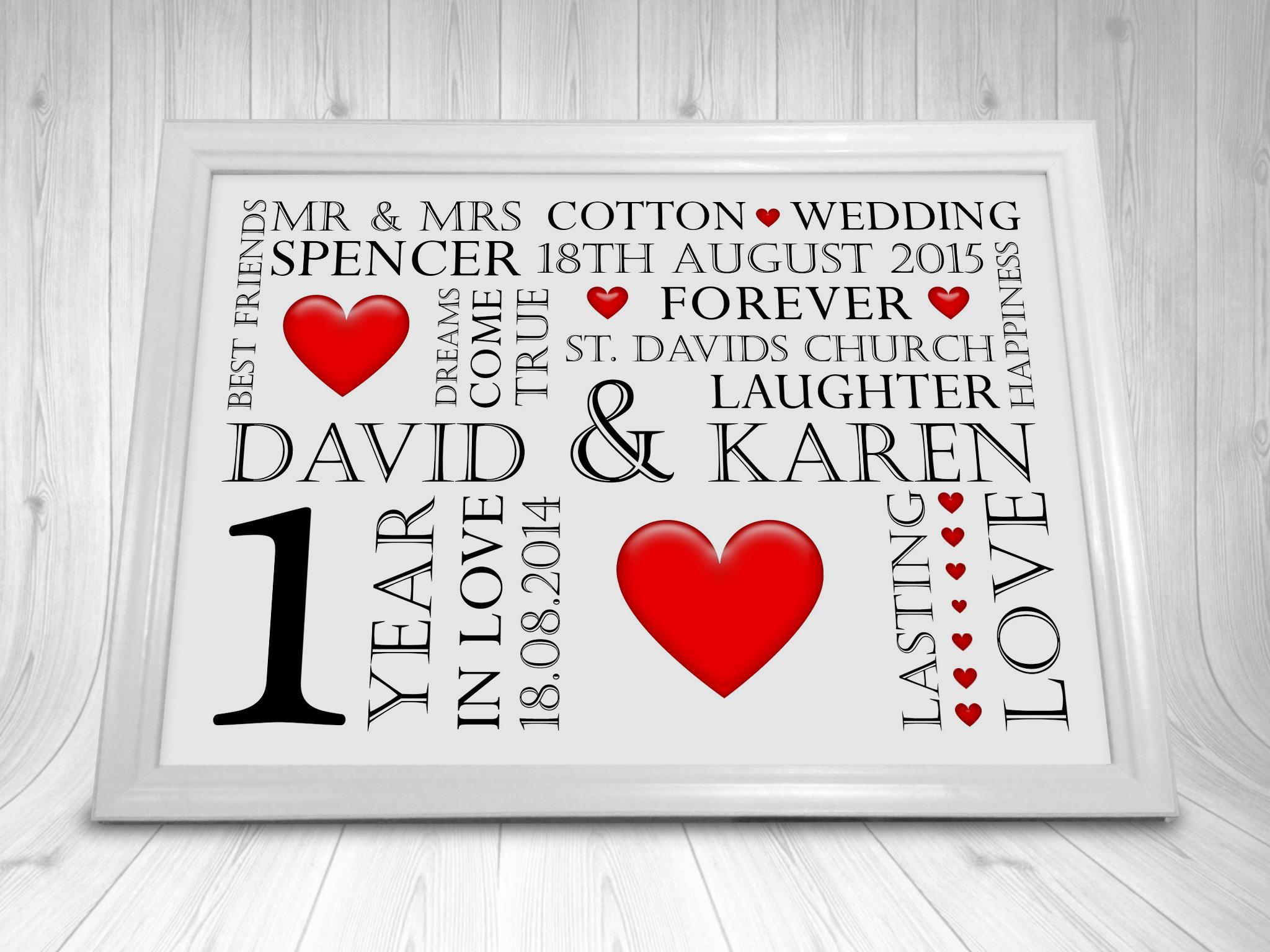 10 Year Wedding Anniversary Gift Ideas Uk : ... Gift personalised tin 10th wedding anniversary gift tenth year year