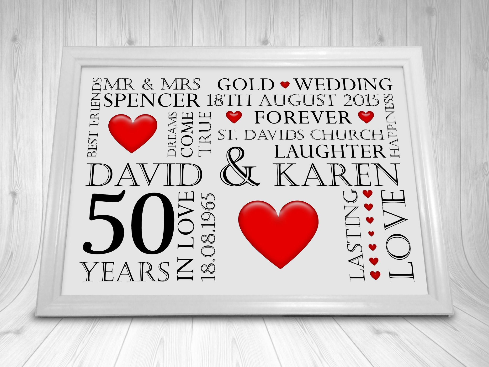 30th Wedding Anniversary Gift Ideas For Friends : Personalised-Pearl-30th-Wedding-Anniversary-Gift-Year-Print-Picture-CL