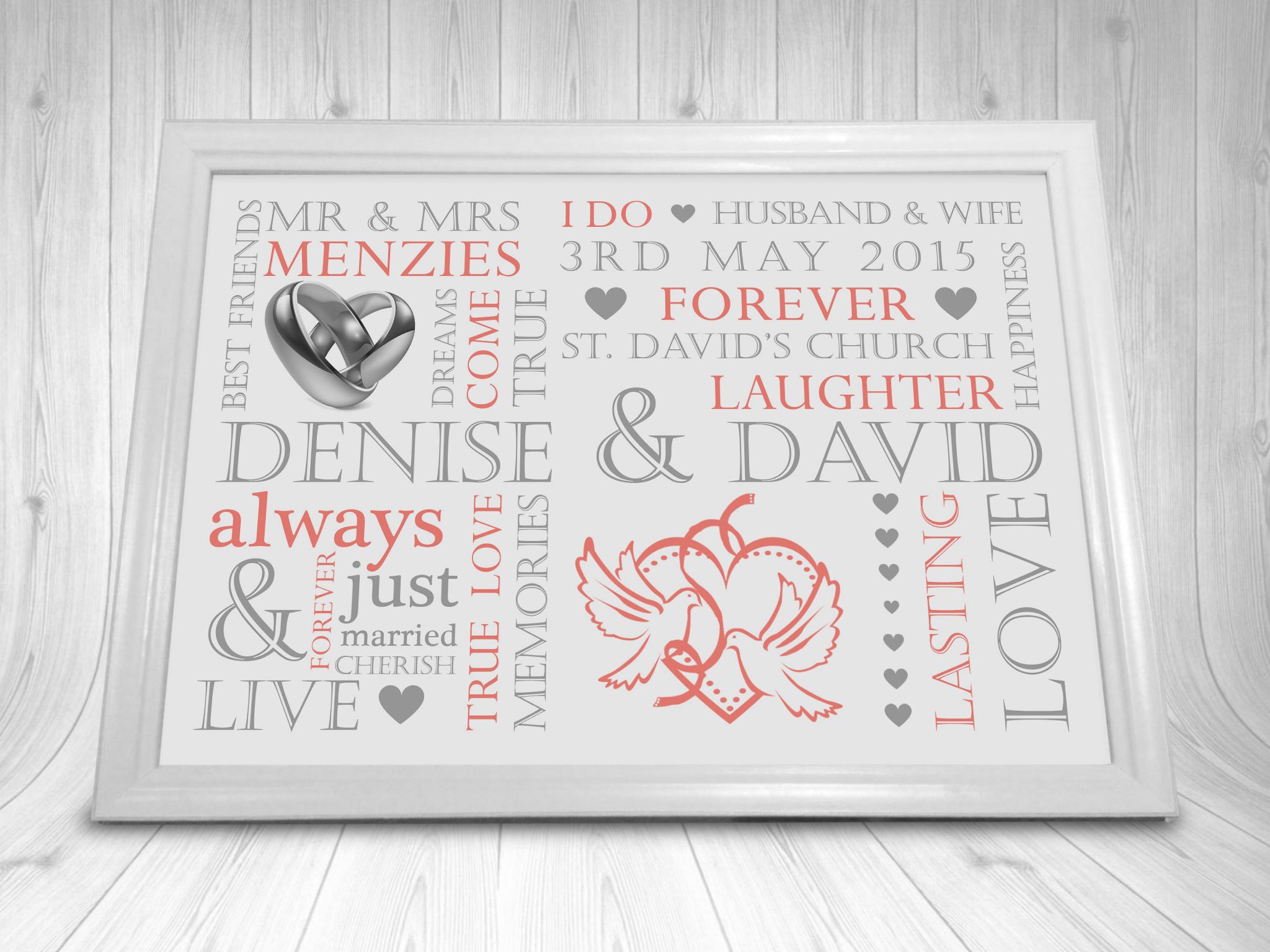 Wedding Gift Word Art : Home, Furniture & DIY > Wedding Supplies > Other Wedding Supplies